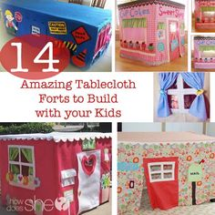 14 Amazing Tablecloth Forts to Build with your Kids #howdoesshe #familytime howdoesshe.com