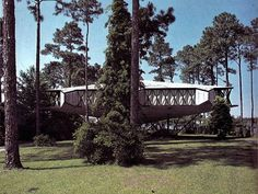 """Star Ship house in Bayou View. Architect was Bruce Goff.  """"Old MS Gulf Coast Hwy 90"""""""