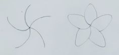 Making A Moote Point: Born Under A Lucky Star...so that's how to draw a plumeria