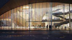 Snøhetta Designs New Library for Temple University in Philadelphia,Main entrance along the eastern façade. Image © Snøhetta