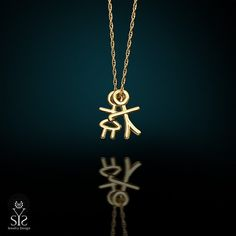 gift for mom necklace 18K gold plated boy& by JewelryDesignSYS