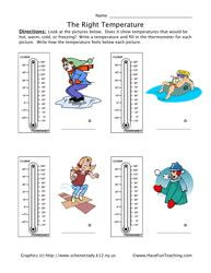 hot and cold temperatures grade 2 worksheets - Google Search