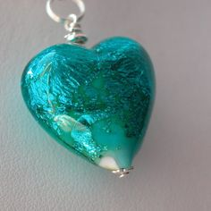 My heart is blue necklace