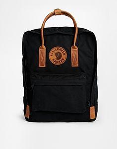 ebbfa086f9df Fjallraven Kanken No 2 Backpack with Leather Handles in Black at asos.com.  Fjällräven RucksackKanken BackpackBackpack PurseLeather ...