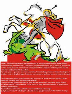 ECO-ração   d São Jorge adaptada por TTCatalao e ilustraçao ZeRicardo - o meio ambiente na luta contra correntes venenos e flagelos dos poderes