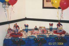 Spiderman Cake table.