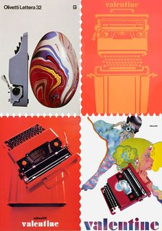 olivetti typewriter ads. i LOVE these.