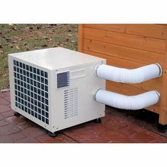 Climate Right Outdoor/Indoor Portable Heater/AC Primary Image Camper Air Conditioner, Portable Heater, Wall Mount Bracket, Indoor Outdoor, Home Improvement, Shed, Chrome, Home Appliances, House