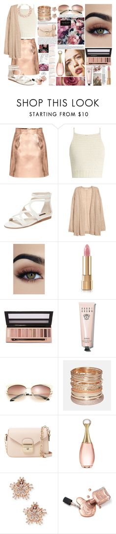 """""""summer outfit"""" by aletraghetti ❤ liked on Polyvore featuring SHE MADE ME, Ava & Aiden, H&M, Dolce&Gabbana, L.A. Girl, Bobbi Brown Cosmetics, Avenue, Longchamp, Christian Dior and Fallon"""