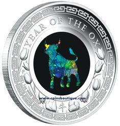 Opal Year of The Ox 1oz Proof Silver Coin Australia 2021