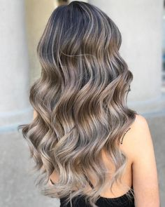 Red Ombre Hair, Brown Hair Balayage, Brown Blonde Hair, Hair Color Balayage, Brunette Hair, Silver Blonde, Blonde Balayage, Black Hair, White Highlights