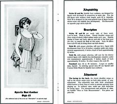 Spirella brassiere from http://commons.wikimedia.org/wiki/File:SpirellaAccessories1913page16_17.png