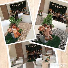 De novo...centros de mesa e visão geral do salão! #clakeka #centrodemesa #centrodemesainfantil #festasafari #safari #safariparty #decoracaodefesta #festapersonalizada #festainfantil