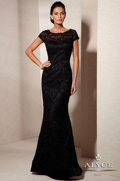 Black evening gown Wish I had this for work!!