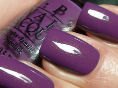 """opi """"dutch ya just love opi?"""" - warm purple with pink/gold shimmer"""