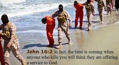 """Understanding Christ's """"Muslim persecution of Christians"""" prophecy."""