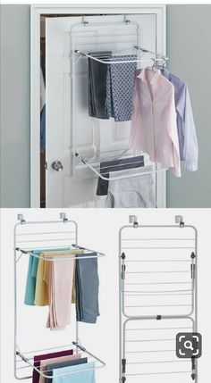 Small Laundry Rooms, Laundry Room Organization, Laundry Room Design, Small Bathroom, Laundry Closet, Bathroom Wall, Kitchen Organization, Organization Ideas, Drying Rack Laundry