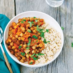 Moroccan Chickpea Stew with Whole-Wheat Couscous