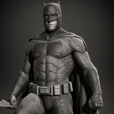 Batman v Superman : Batfleck, Marthin Agusta Batman Wallpaper, Game Character Design, Marvel Dc Comics, Zbrush, Superman, Concept Art, Fan Art, Statue, Superhero