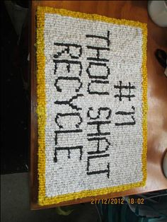 recycled plastic bag doormat - HOME SWEET HOME