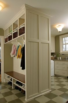 mudroom- if i took out the divider between the lockers in my mudroom could I make a seat?