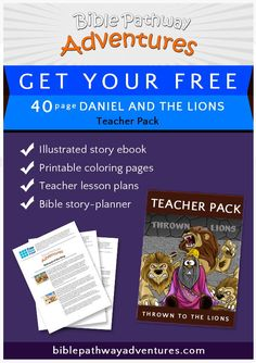 Daniel in the Lions Den. Free Bible lesson plans, cartoons, and puzzles for parents and teachers. Learn more about Babylon, Daniel, and the den of Lions. Bible Resources, Bible Activities, Kindergarten Activities, Learning Activities, Girls Bible, Bible Stories For Kids, Bible For Kids, Free Bible Coloring Pages, Coloring Pages For Kids