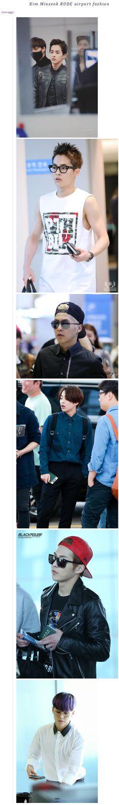 Kim Minseok RUDE airport fashion