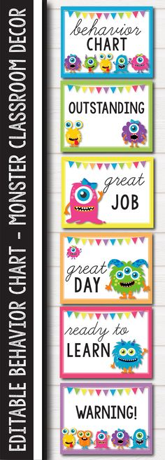 Get your classroom ready for back to school with these fun monster classroom decor labels that you can use for bins, containers and other storage units. This will make back to school organization super easy and fun, you can use them with ikea furni Kindergarten Classroom Organization, Back To School Organization, Classroom Jobs, In Kindergarten, Classroom Management, Organization Ideas, Classroom Labels, Class Management, Classroom Setup