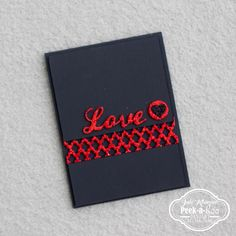 CAS red and black card with Peek-a-boo designs dies