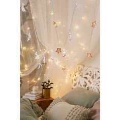 Copper Star Fairy Lights ($39) ❤ liked on Polyvore featuring home, lighting, copper, star string lights, copper lamp, star lights, star fairy lights and copper lights
