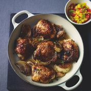 Lorraine Pascale's baked jerk chicken with pineapple salsa | Dinner party recipes