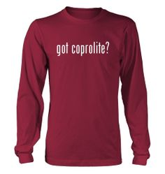 got coprolite? Funny Adult Men's Long Sleeve T-Shirt