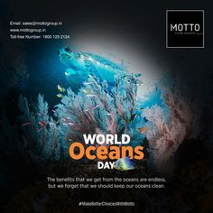 The benefits that we get from the oceans are endless, but we forget that we should keep our oceans clean. Happy World Oceans Day..! #Motto #Tiles #mottogroup #Ceramic #FloorTiles #slabtiles #CeramicTiles #CeramicTile #SlabTile #Slab #Tile #Marbles #MarblePlus #WorldOceanDay #WorldOceanDay2021 #PlasticFreeOcean #Ocean #MarineLife #Nature International Days, Ocean Day, Oceans Of The World, Marbles, Marine Life, Motto, Tiles, Forget, Surface