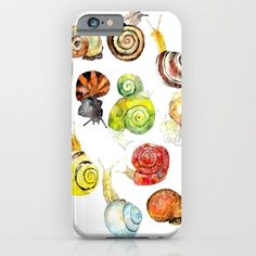 This watercolor phone case: | 21 Things For People Who Think Snails Are Cute AF