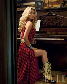Jessica Simpson for ELLE magazine Cowgirl Chic, Cowgirl Style, Jessica Simpsons, Country Girl Style, Country Girls, My Style, Southern Girls, Goth Style, Jessica Simpson Hot