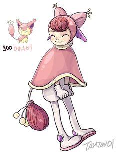 #300. Skitty (humanized/gijinka pokemon series by tamtamdi on tumblr)
