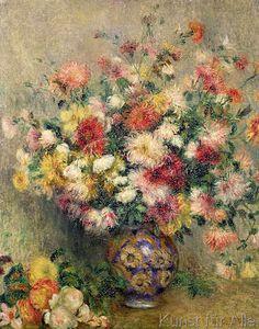 Pierre Auguste Renoir - Dahlias