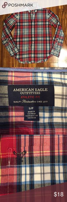 BundleSale🎉AE Button Down Shirt American Eagle Button Down Shirt. Plaid. Make an offer or bundle to save 15%! American Eagle Outfitters Tops Button Down Shirts