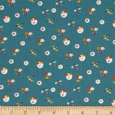Designed by Yuko Hasegawa for RJR Fabrics, this fabric is perfect for quilting, apparel and home decor accents. Colors include white, yellow, orange, grey and dark teal.