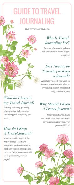 Guide To Travel Journaling Part 1 Infographic