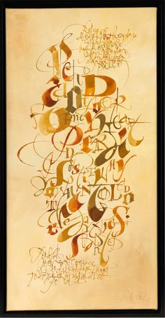 Calligraphy with color