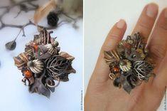 Необычные кожаные кольца Арины Павловой