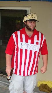 Popcorn. Easy Halloween costume