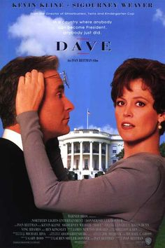Dave with the wonderful Kevin Kline and Sigourney Weaver