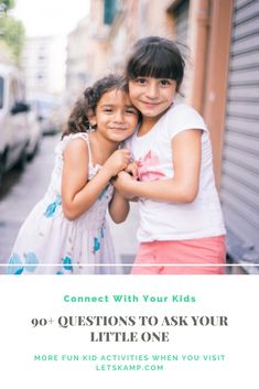 Do you want to know more about your kid and develop a stronger bond? Then you should learn these questions to ask kids. It's simple yet fun and exciting! The best part about this is that these daily questions for kids are free! Click now to learn more! Questions To Ask, This Or That Questions, Fun Activities For Kids, Funny Kids, Your Child, More Fun, Cool Kids, Bond, Learning