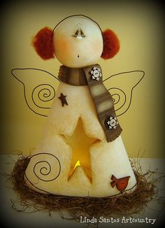 *SNOW ANGEL ~ Biscuit Country -  Snow by Linda Santos Artcountry, via Flickr