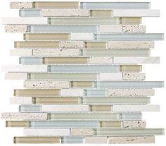 "4"" x 6"" Sample - Bliss Spa Stone and Glass Linear Mosaic Tiles - Kitchen Backsplash/Tub Surround Rocky Point Tile http://smile.amazon.com/dp/B00CSAG85G/ref=cm_sw_r_pi_dp_gIl2ub0BGQP2K"