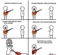 Funny FANGIRLING picture pierce the veil king for a day