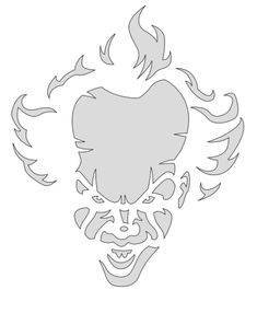 Pennywise (IT) Pumpkin Carving Stencil . Cute Pumpkin Carving, Halloween Pumpkin Carving Stencils, Halloween Pumpkin Designs, No Carve Pumpkin Decorating, Pumpkin Carving Templates, Scary Pumpkin, Carving Pumpkins, Pumpkin Pumpkin, Pumpkin Faces