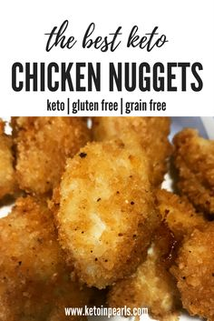 Low carb, grain free, gluten free, & kid approved keto chicken nuggets! Just like Chick-Fil-A without all the carbs! Skip the drive-thru with this easy recipe!
